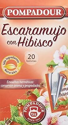 Pompadour Té Infusion Escaramujo con Hibisco - 20 bolsitas - [Pack ...