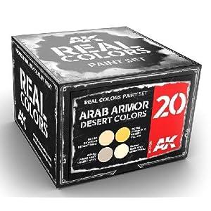 AK Interactive Real Colors: Arab Armor Desert Colors Acrylic Lacquer Paint Set (4) 10ml Bottles 2