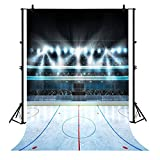 7x5ft Bokeh Shiny Ice Hockey Field For Sport Polyester Photography Backdrop Photography Props Studio Photo Booth Props