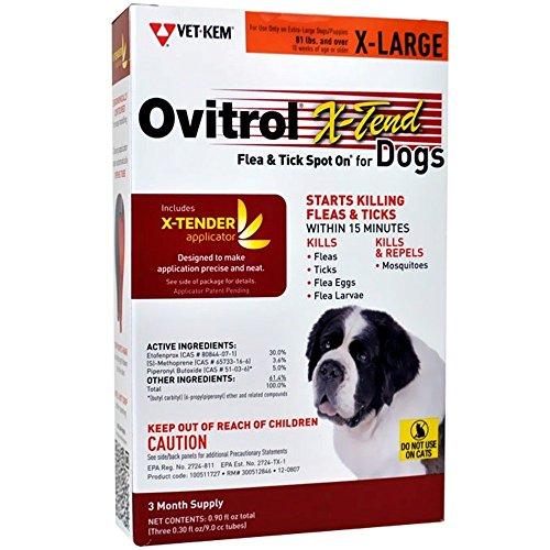 Ovitrol XTend Flea Tick Spot On for XLarge Dogs  3 MONTH