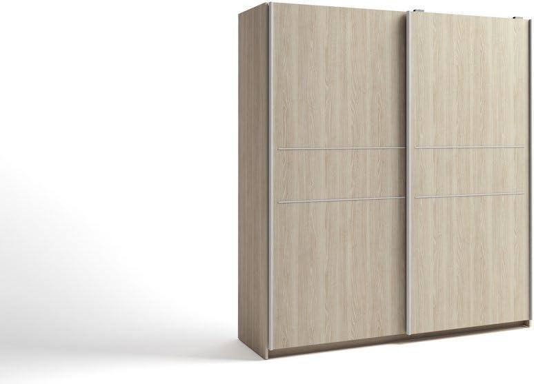 LIQUIDATODO ® - Armario de 2 puertas correderas moderno y barato de 181 cm en color sable: Amazon.es: Hogar