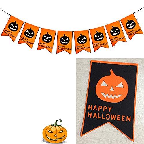 Halloween Vintage Flags Bunting Banner Witch Hoe Pumpkin