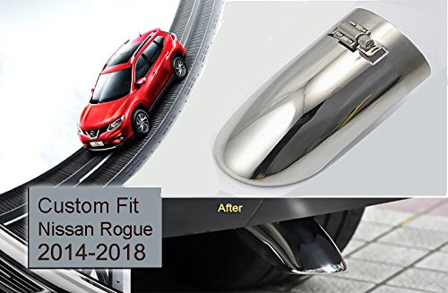 1Pcs Silver Stainless Steel Tailpipe Trims Exhaust Muffler Tail Pipe Tip for Nissan Rogue 2014 2015 2016 2017 2018 Yingchi
