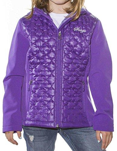 (Snozu Softshell Hooded Jacket for Girls (Medium / 10-12, Purple))