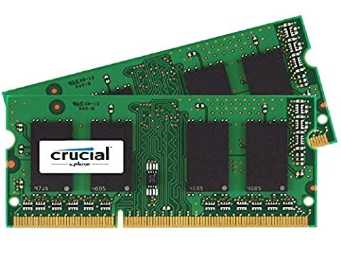 Crucial 16GB Kit (8GBx2) DDR3/DDR3L 1866 MT/s (PC3-14900) SODIMM 204-Pin Memory - CT2K102464BF186D - 16 Kit