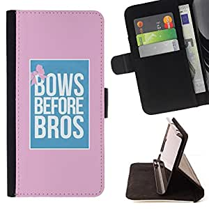 For LG OPTIMUS L90 Bows Before Bros Pink Blue Poster Pink Style PU Leather Case Wallet Flip Stand Flap Closure Cover