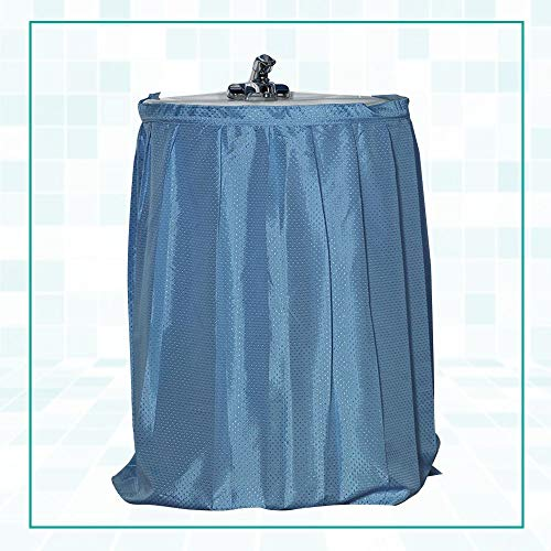 Laundry Sink Skirt Lauren Dobby Fabric Sink Skirt Light Blue This Clever Polyester Sink Skirt Hides Ugly Under-Sink Pipes And Adds Much-Needed Storage To Bath It's Made Of A Pretty Dot-Textured Fabric