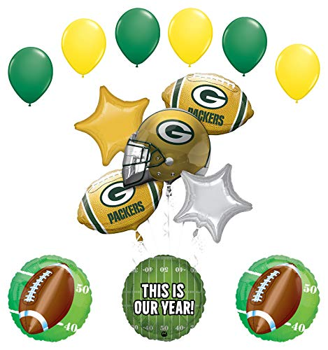 Mayflower Products Green Bay Packers Football Party Supplies This is Our Year Balloon Bouquet Decoration ()