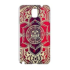 peace and justice obey Red star flowers 3D Phone For LG G2 Case Cover
