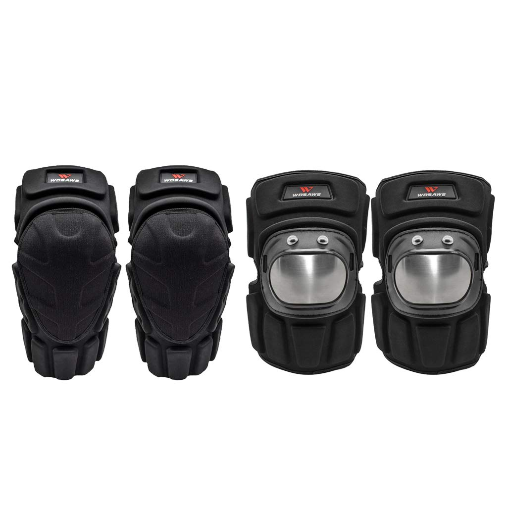 Baosity MTB Bike Scooter Knee Pads + Elbow Pads Wrist Guards Predective Gear 2 in 1 Set for Biking, Riding, Cycling,Skiing and Skating