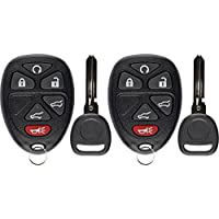 KeylessOption Keyless Entry Remote Control Car Key Fob Replacement for 15913427 with Key (Pack of 2)