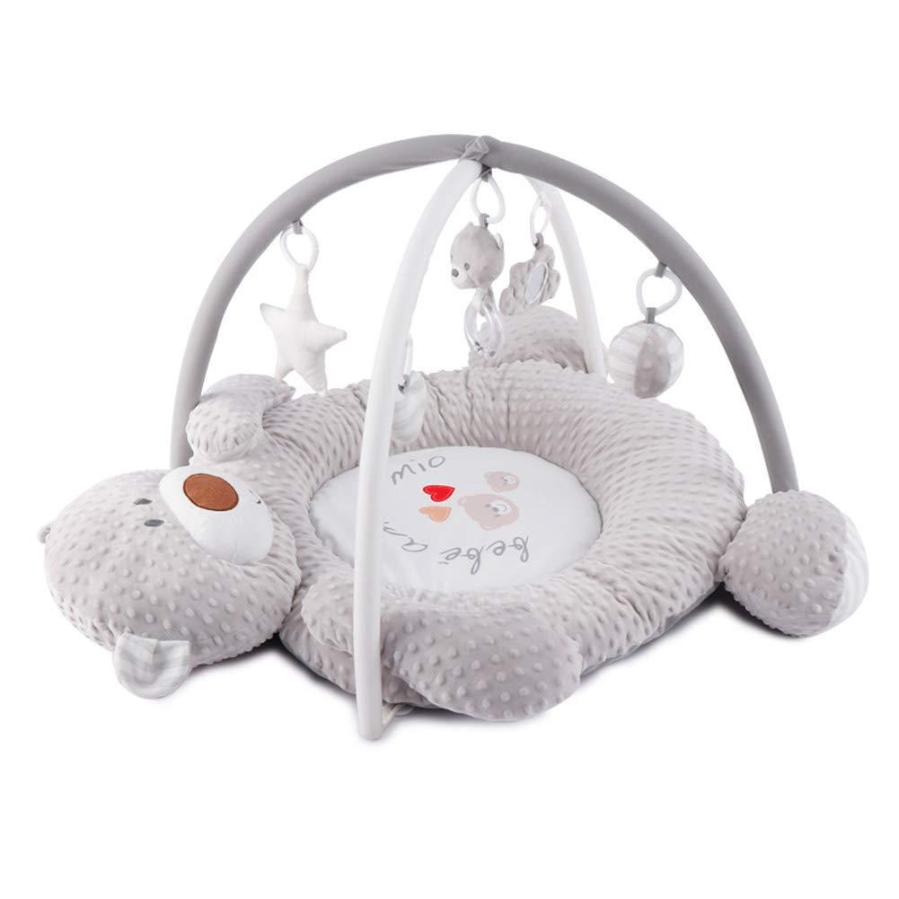 ベビーミュージックベアゲーム毛布 ベビージム ポータブルクロールマット 知育玩具 かわいい赤ちゃんの巣 3Dマッサージボールクラフト 02歳   B07TWR95ZK