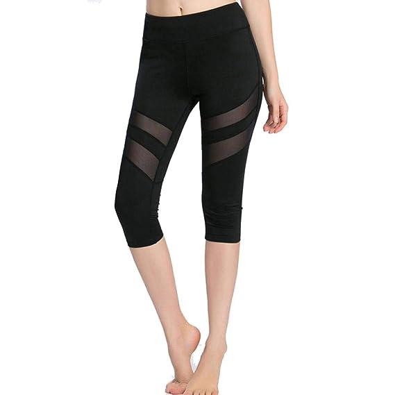 ❤ Malla Yoga Leggings Mujer Skinny Leggings Patchwork Fitness Deportes  Capri Pants Absolute  Amazon.es  Ropa y accesorios e1cdb8e44286