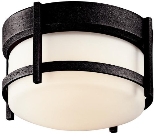 Kichler 49125AVI Camden Outdoor Ceiling 1-Light, Anvil Iron