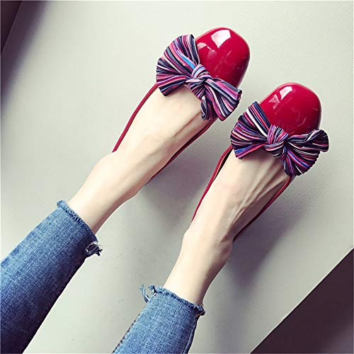 FLYRCX EU 35 fashion flat shoes casual shoes shoes office pregnant work Women's shoes bow comfortable women single qpwa1rqZ