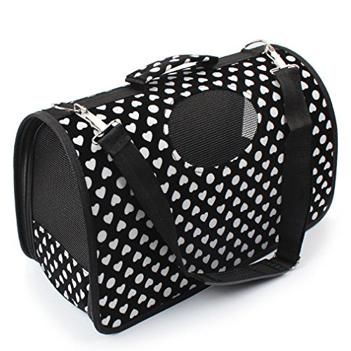 OpetHome Portable Pet Carrier Comfort Soft Sided Pet Kennel Airline Approved Travel 5 lb-15 lb Cat/Dog Tote Bag White Loving - Tumblr 2016 Sunglasses