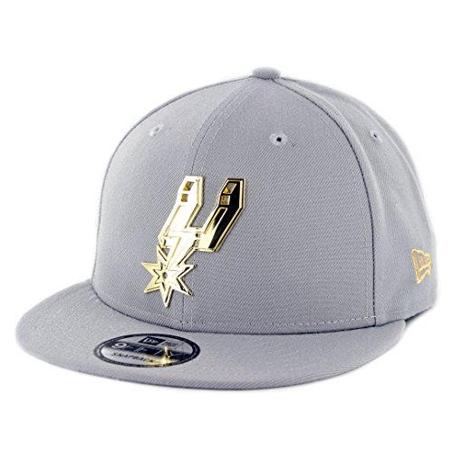 New Era 950 San Antonio Spurs Metal Framed Snapback Hat (Grey) Men's NBA Cap