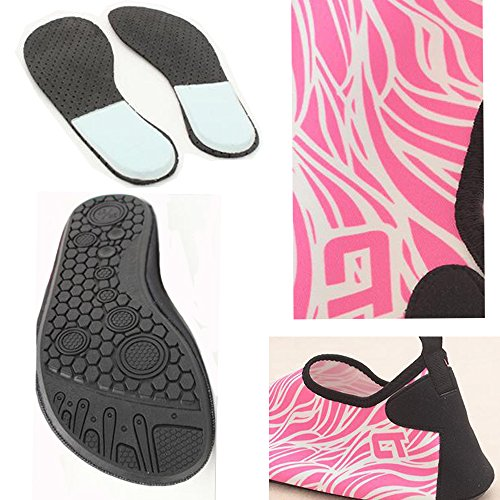 Water for Beach Dry Quick Pool Men Pink Shoes Barefoot Women Lightweight Shoes Yoga 2 ALSYIQI Exercise Surf Aqua Socks nwBqYP17