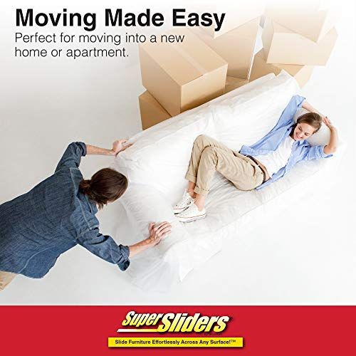 SuperSliders 4714095N Medium and Large Reusable Furniture Moving Kit for All Floor Types- Move Heavy Furniture Quickly and Easily, Linen (20 Pack)