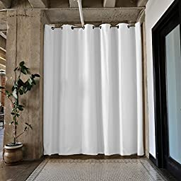 RoomDividersNow Silver Tension Curtain Rod, 80in-120in