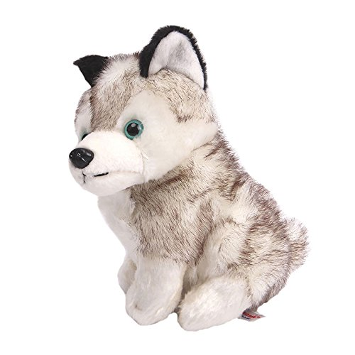 Stuffed Husky Dog - Plush Animal That's Suitable For Babies and Children - Perfect Birthday Gifts - Toy Doll for Baby, Kids and Toddlers by BestKept (Jumbo White Bunny Kit)