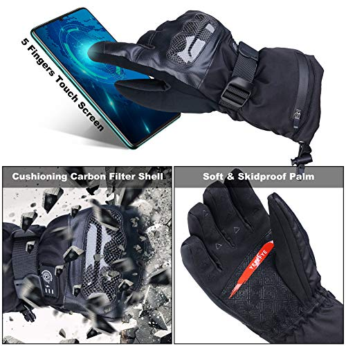 Heated Gloves for Men Women - Electric Heating Gloves for Motorcycle, Outdoor Work Rechargeable