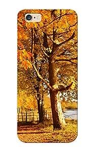 Design For Iphone 6 Plus Premium Tpu Case Cover Scotland Autumn River Fall Protective Case