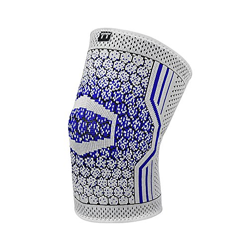 Single Compression Knee Sleeve Best Brace for Meniscus Tear, Arthritis, Quick Recovery, etc. Ideal for Running, CrossFit, Basketball and other Sports (Large)