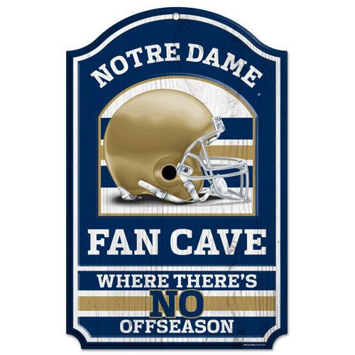 (WinCraft NCAA Notre Dame Fighting Irish Fan Cave Design Wood Sign, 11