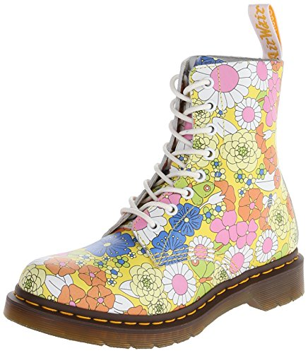 Dr. Martens PASCAL Vintage Daisy Damen Stiefel Gelb (Yellow)