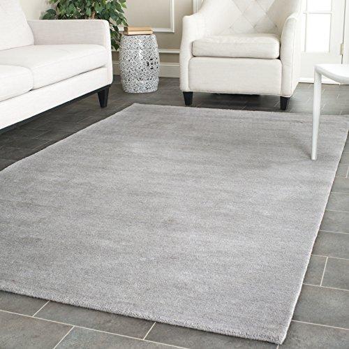 Safavieh Himalaya Collection HIM610K Handmade Grey Premium Wool Area Rug (3' x 5') (Gray Wool Rug)