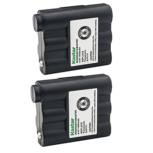 Kastar Cordless Battery 2 Pack Ni-MH 6V 1000mAh, Replacement Two-Way Radio Battery for Midland NAUTICO NT1VP GXT-650 GXT-661 GXT-600VP4 GXT-635VP3 GXT900 GXT950 GXT-800 GXT-850 GXT-400 GXT-444