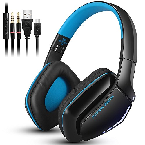 Wireless Bluetooth Headphone and Wired Headset Double Model Over Ear Headphones with Lightweight (Only Wired Mode Compatible with Xbox PSP PC Device)