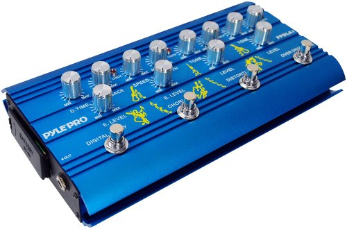 Pyle-Pro PPDLA1 Super Guitar Multi-Effect Pedal With Overdrive, Distortion, Chorus, And Digital Delay by Pyle
