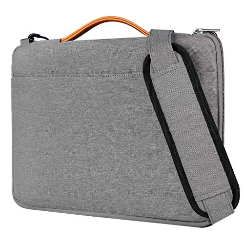 Inateck 15-15.6 Inch Laptop Messenger Bag Sleeve Case with Shouder Strap, Water Resistant Shoulder Bag Compatible Dell/Lenovo/ASUS/Acer/Toshiba, Gray