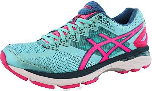ASICS Women's GT-2000 4 Running Shoe, Turquoise/Hot Pink/Navy, 7.5 M US GT-2000 4-W
