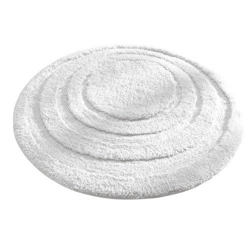InterDesign Microfiber Spa Round Bathroom Accent Rug, 24-Inch, White