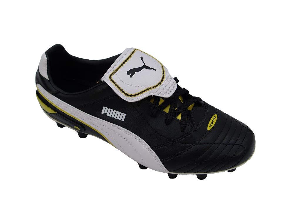 Puma Esito Finale i FG, schwarz Weiß Fluo Yellow, Gr. 40,5(UK7)