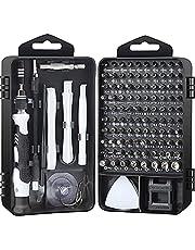 Conjunto de chaves de fenda de precisão, kit de ferramentas de reparo de chave de fenda magnética para iPhone Series/Mac/iPad/Xbox Series/PS3/PS4/Nintendo Switch/óculos/relógio, celular/PC/eletrônico (AT117BL)