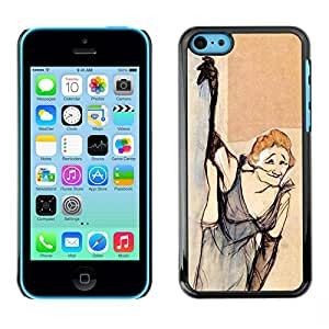 Shell-Star Arte & diseño plástico duro Fundas Cover Cubre Hard Case Cover para Apple iPhone 5C ( Smoking Old Woman Dress Funny )