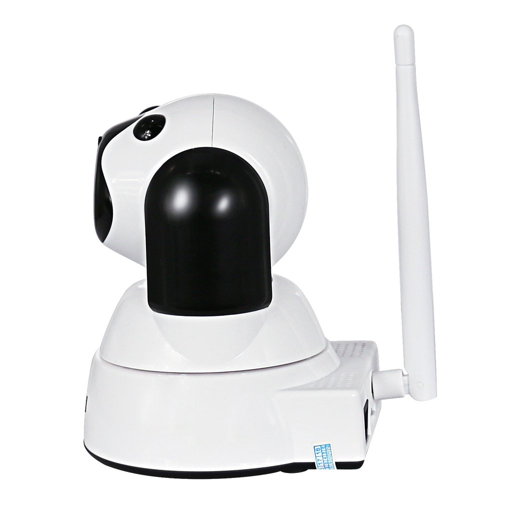 Dovewill Wireless Security Surveillance Camera, 720P 1MP 3.6mm Lens WiFi Camera Home Monitor with Night Vision, Motion Alarm, Romote Viewing White Color