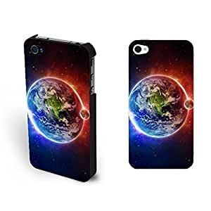 Cool Outer Space Plannet Iphone 6 4.7Inch Beautiful Earth Light Glitter Shiny Case For Iphone 6 4.7Inch Cover Skin for Teen Boys