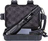 #7: Tactical Portable LED Flashlight 1000 Lumens with 5 Modes (Metal-Black)