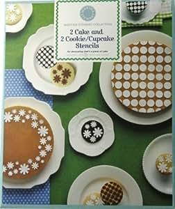 Martha Stewart Collection Cake & Cookie/Cupcake Stencils, Set of 4