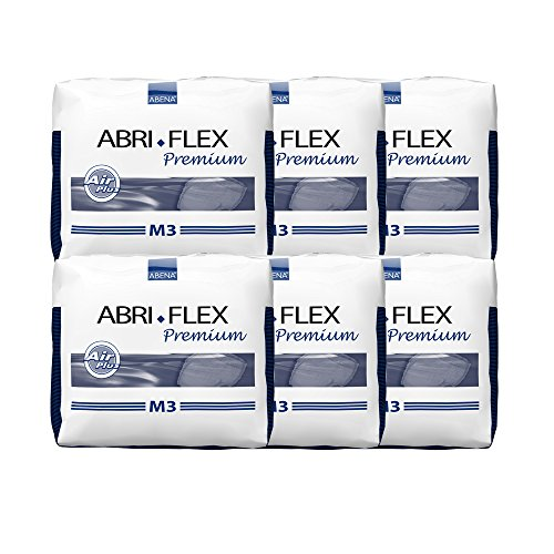 Abena Abri-Flex Premium Protective Underwear, M3, 84 Count (6 Packs of ()