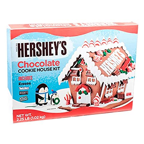 Christmas Hershey's Chocolate 6 pc Gingerbread House over 2lb of Delicious candy! - Gingerbread House Felt