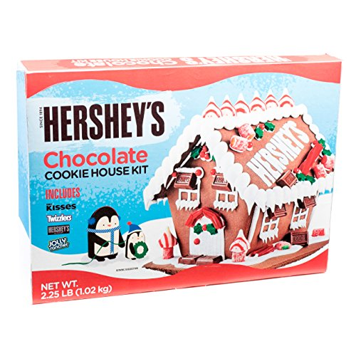 Christmas Hershey's Chocolate 6 pc Gingerbread House over...
