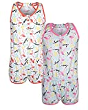 dELiA*s Girls Pajama Romper (2 Pack) Flamingo, Size 5/6