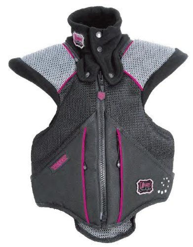 Divas Womens Super Sport Tek-Vest Protection Vest Black Pink M/Medium