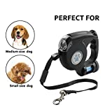 Retractable Dog Leash, HokoAcc 16 Ft Durable Tangle Free Dog Walking Leash with Break and Lock Button Free Waste Bag LED Light Suitable for Small Medium or Larger Dogs